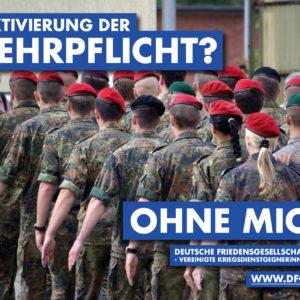 Reaktivierung der Wehrpflicht - Ohne mich!_Postkarte