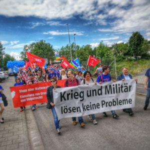 "Protest in Bad Hersfeld gegen den ""Tag der Bundeswehr"""