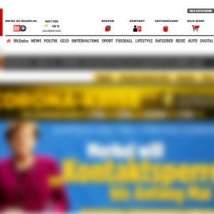 """Werbebanner der Bundeswehr auf der Website der """"BILD"""""""