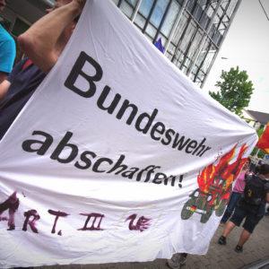 Demotransparent_Bundeswehr abschaffen!