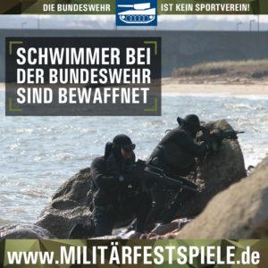 Schwimmer bei der Bundeswehr sind bewaffnet_Militärfestspiele