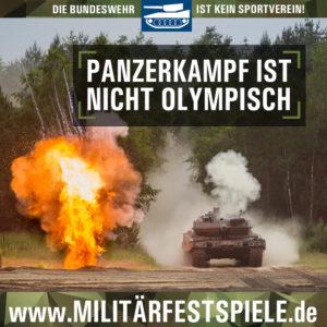 Panzerkampf ist nicht olympisch_Militärfestspiele