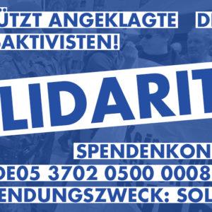 Hausfriedensbruch nach Protest gegen Bundeswehr_Solidarität mit den Angeklagten Friedensaktivist*innen
