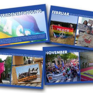 DFG-VK-Tischkalender 2021 mit Erfolgen aus der Friedensbewegung
