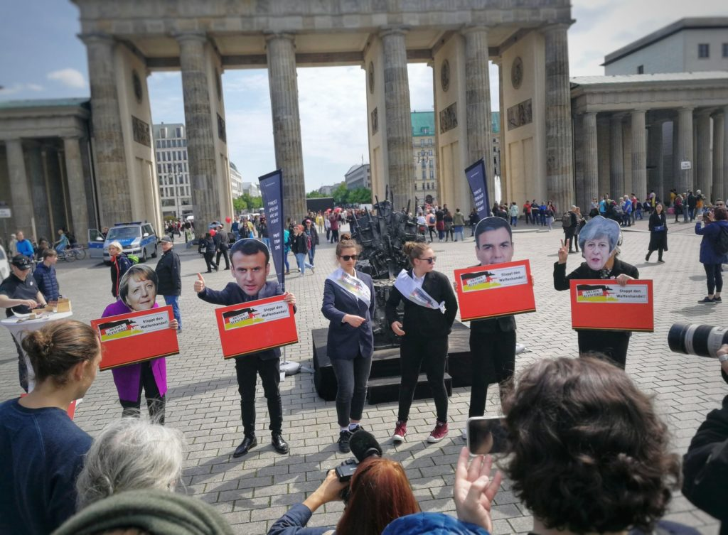 Protest Aktion in Berlin