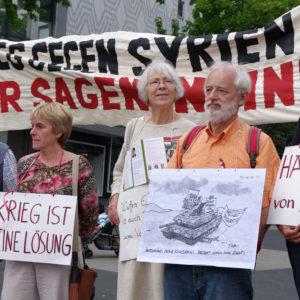 Protest: Auslandseinsätze in Syrien beenden