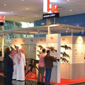 Rüstungsexportmesse Heckler und Koch