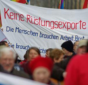 Protest gegen Rüstungsexporte